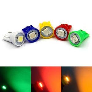 500PCS T10 5050 1SMD 194 168 192 W5W porte luci di pannello Strumento Lampe LED 12V Car Styling Auto Lighting Bianco Blu Giallo