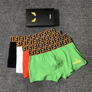 22 Mens Tasarımcısı Boxer Marka Külotlar Moda FF Harf Seksi Erkek Boxer Casual Katı Renk İç Lüks Nefes Underwears 2020721K