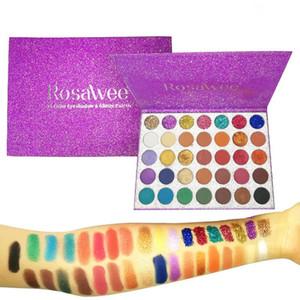 ROSAWEE Professional Glitter Paleta da Sombra 35 Cores de Longa Duração Matte Eye Shadow Palette Maquiagem Mulheres Beleza Presente Cosméticos
