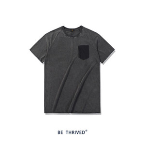 Mens ocasional del verano diseñador del color sólido de gran tamaño camiseta Short Sleeve Crew Neck Homme ropa suelta Tees