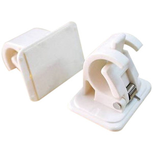 Self Adhesive Hooks Rod Bracket Pole Drapery titulares gancho 2PC New Arrival Dropshipping