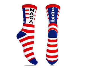 2020 America General Election Trump Socks Men Women Cotton Mid Sports Stockings Hip Hop Sock Make America Great Again Election Supplies