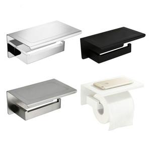 Weißer Spiegel Chrom schwarz poliert Edelstahl gebürstet Toilettenpapierhalter Top Place Things Platform 4 Auswahlmöglichkeiten