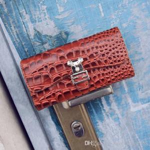 outlet borsa moda coccodrillo linee lungo Europa Stati Uniti portafoglio in pelle verniciata perla decorazione tendenza joker portafogli in pelle mano