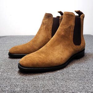 남성 부츠 발목 부츠 플러스 벨벳 하이 탑 마틴 부츠 야외 산책 신발 방지 캐주얼 신발을 착용