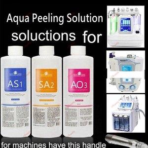 Solución de calidad superior para el peeling acuático 400 ml por botella 3pcs / set Hydra Facial Serum Para Piel Normal para Dermabrasión Hydro Facial