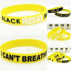 Nero Lives Matter! Nuovo sottile linea blu e American Flag Wristband del silicone sottile linea rossa Usa Flag mano Circle Moda Bracciale C0222 # 85760
