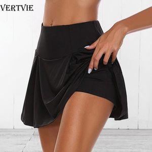VERTVIE Summer Running Shorts Women 2 In 1 Quick Dry Yoga Shorts Gym Loose Sport Breathable Tennis Skirt Girls Pantskirt