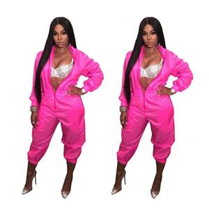 Женщины Весна мода с длинным рукавом комбинезоны боди Zip-up Sexy ночной клуб одежда комбинезон глубокий V шеи тонкий дамы сексуальная одежда