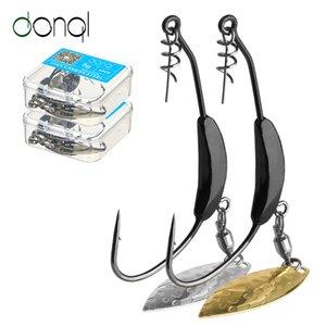 5pcs barato anzóis DONQL / caixa de compensação de anzóis com metal Colher Sequins Adicionar Chumbo Peso 2g-7g largas Crank anzóis para soft Iscas Lure