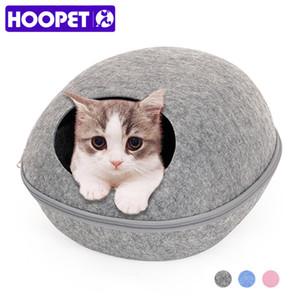Çanta Fermuar Egg Uyuyan HOOPET Köpek Kedi Yatak Cave Bezi Pet House Nest Keçe Shape Kediler Hayvanlar için Kedi Sepet Ürünleri SH190926 Malzemeleri