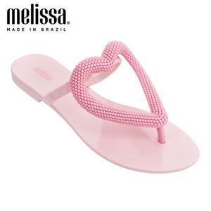 Melissa Big Heart Femmes Jelly Shoes Flip Flop 2020 New femmes plat Chaussons Jelly Sandales Melissa brésilienne Femme Jelly Chaussures de Y200405