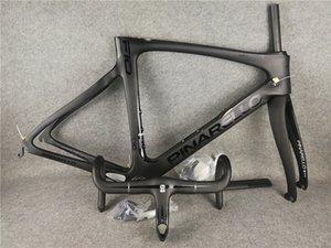 F10 202 BOB أسود على أسود إطار طريق الكربون الدراجة الإطار سباق الدراجات على الطريق إطارات + معظم المقود