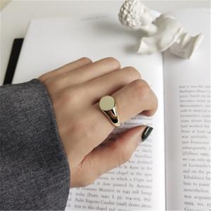 925 فضة مجوهرات جولة بيان خواتم مفتوحة للنساء anillos موهير 18 كيلو لون الذهب هدايا الزفاف الأزياء عصابة للتعديل