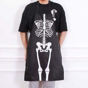 할로윈 바 댄스 의상 드레스 앞치마 해골 의상 앞치마 성인 남녀 주방
