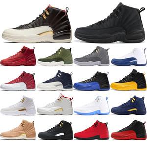 Nike AIR Jordan 12 com meias gratuito Ar 2020JordâniaRetro novos de boa qualidade 12 Gym Red tênis de basquete 12s esportivos universitários sapatilhas Atlético 40-47