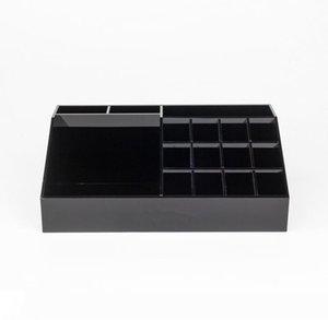 Classic Black Acrylic Lipstick multifunzionale del banco di mostra cosmetici Organizzatore Accessori Stoccaggio Scatole Confezioni Regalo