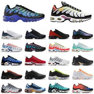 Nike Air Max Tn Plus SE Just Do it scarpe da corsa triple black white Shark Hyper Blue Spray Paint Scream Green sneakers sportive da uomo