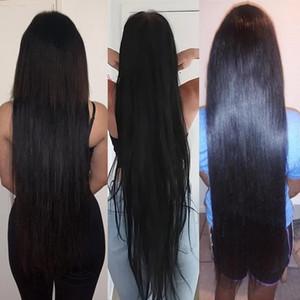 Queenlife 28 30 32 38 pouces 360 perruques de cheveux humains avant de dentelle de Remy de Brésilien cheveux 13x6 perruques de cheveux longs de l'homme pour la femme noire