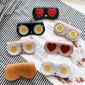 Sunglass Cas PU Cartoon Lunettes Sacs enfants Cartoon Lunettes Box Case Lunettes de soleil Protector Box Case 8 Designs DW5316