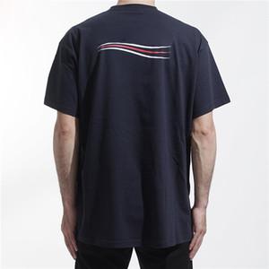 20SS сплошной цвет волна логотип футболка классический логотип письмо печать Мужчины Женщины дышащий с коротким рукавом высокая улица t-рубашки лето тройник HFYMTX785