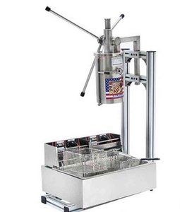 Manuale di vendita calda di alta qualità commerciale 5L verticale Churrera Churros macchina / 12L friggitrice trasporto libero LLFA