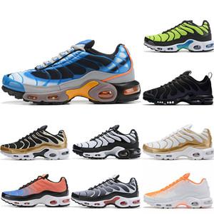 nike tn Fashion Plus TN Ultra Zapatillas para correr Cojín Tn Plus Triple Negro Oro Azul Naranja Amarillo Verde Verde Hombres deportes desinger Zapatillas de deporte Tamaño 7-12