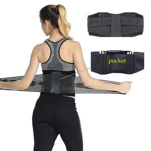 Correa de soporte trasero de la cintura Brace Entrenador abdominal ajustable elástico de la cintura del condensador de ajuste de cinturón lumbar Reductora de Deportes de energía Unisex