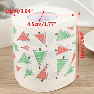Christmas Toilet Roll Paper Home Santa Claus Bath Toilet Roll Paper Christmas Supplies Xmas Decor Tissue Roll 10*10cm