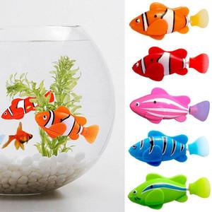 5 개 / 세트 로봇 전자 수영 배터리 포함 어린이 용 로봇 애완 동물 장난감 낚시 장난감처럼 실제 물고기처럼 Q190522