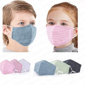 Enfants coton masques PM2. 5 anti poussière brume bouche couvre 5 couches de protection visage masque avec un filtre pour garçons filles Bouche-moufle DHL E4905