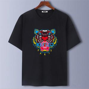 Grande al por mayor la marca del tigre cabeza S-5XL / Kenzo color 9 Hombres, mujeres, camisetas de manga corta diseñadores homme verano París Streetwear camisas de lujo camiseta