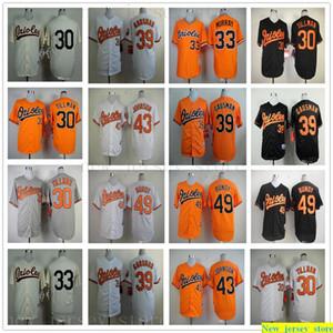 2019 Homens Mulheres Baseball Juventude 30 Chris Tillman Jersey costurado 33 Eddie Murray 39 Kevin Gausman 43 Jim Johnson 49 Dylan Bundy Jerseys