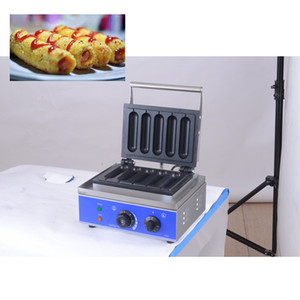 Commercial antiadhésif 6 bâton électrique français gaufre Muffin Hot Dog machine Lolly Gaufrier machine à bâton Croustillant