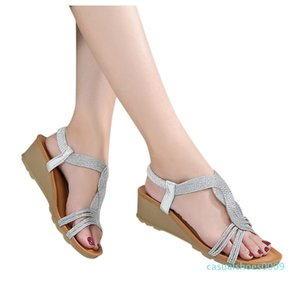 Roman Sandals Stapy Shoes Wedges Summer Flip Flops Women's Ladies Fashion Girls Comfortable Wedges Thick Casual Sandals Shoes c09