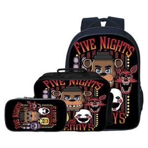 Novo Estilo 3pcs / set Cinco Night At bebê da escola dos miúdos Bolsas FNAF dos desenhos animados Crianças Mochilas para meninos Schoolbag Meninas Bookbag