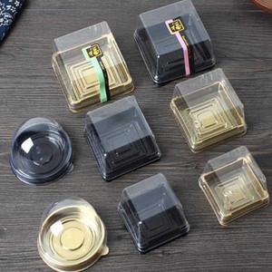 Plastik Kek Kutuları Mooncake Gıda Hediye Paketleme Kutusu PVC Kutuları Bireysel Ay Kek Tepsisi Plastik