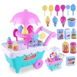 Simulazione Ice Cream Candy carrello Toy Girl Set Bambini Frutta verdura Food Cart musicali giocattolo fingono il Giocattoli Set Mini-Casa #### 4