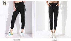 Kadınlar Pantalon Femme Pantalones Mujer Cintura Alta Pantolon Kadın Garemay için Casual Siyah Pantolon Kadınlar Harem Çizgili Pantolon
