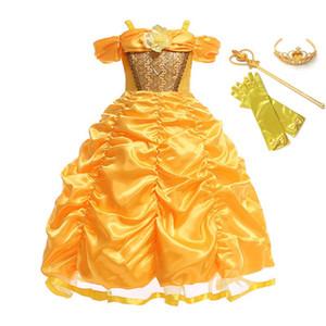 VOGUEON 여자 드레스 의류 최대 장미 꽃 파티 코스프레 의상 어린이 생일 볼 가운