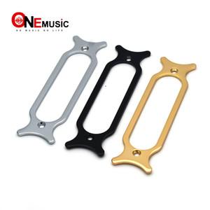 5PCS Guitarra elétrica do metal Single Coil Captura de montagem partes de guitarra Anel Chrome Black Gold para Escolher