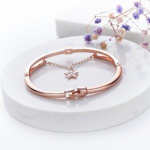 Mode Cristal Bracelets pour la chaîne étoile couleur Lien Bangle classique Cuff Bracelet Bracelets Bijoux Parti