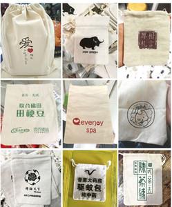 حقيبة هدايا مخصصة طلبات خاصة رابط 1 قطعة = $ 1 دولار قطن كتان مخملية الحقيبة طباعة شعار مخصص