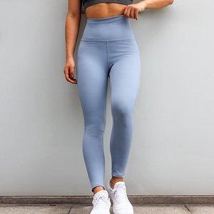 delle donne yoga pantaloni a vita alta di allenamento pancia di controllo in corso di yoga Solid Leggings Palestra Sport Leggings Sport Pantaloni Donna