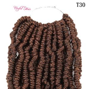 crochet passione torsione capelli Dhgate sintetico tessuto 14 pollici all'ingrosso capelli lunghi Migliore per passione torsione extension crochet bundeles ricci