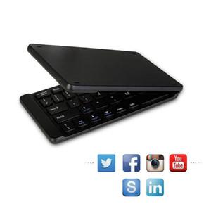 Windows Android, ios, Tablet ipad, Telefon Işık Kullanışlı mini oyun klavye için portatif katlanabilir klavye Bluetooth kablosuz Klavye