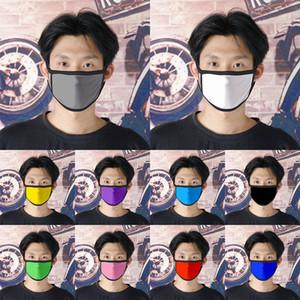 10 Solid colore della maschera vuota Logo panno può essere personalizzata polvere e smog Mask Estate traspirante Materiale XD23575