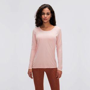 AFK-LU tanque de 016 tapas de la yoga de la manga larga delgada transpirable de secado rápido pellejo camisas delgadas ropa de gimnasia womeng