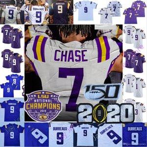 7 # JA'MARR Chase Özel LSU Kaplanları Koleji Futbol Forması Joe Burrow Burreaux Orgeron Heisman Thaddeus Moss Jeffersondelpit Erkek Kadın Gençlik