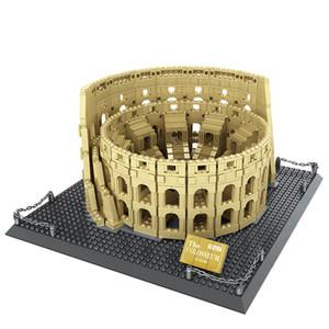 1758pcs Mimarlık Şehir İtalya Roma Kolezyum Yapı Taşları Setleri Tuğlalar Klasik İl Skyline Modeli Çocuk Oyuncakları İçin Çocuk